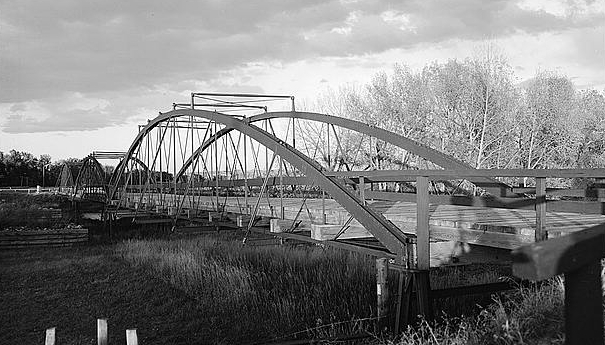 Old Army Bridge over the Laramie River, 1875